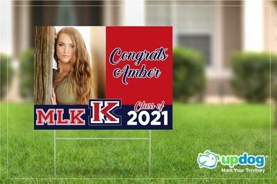 King High School Graduation Yard Sign