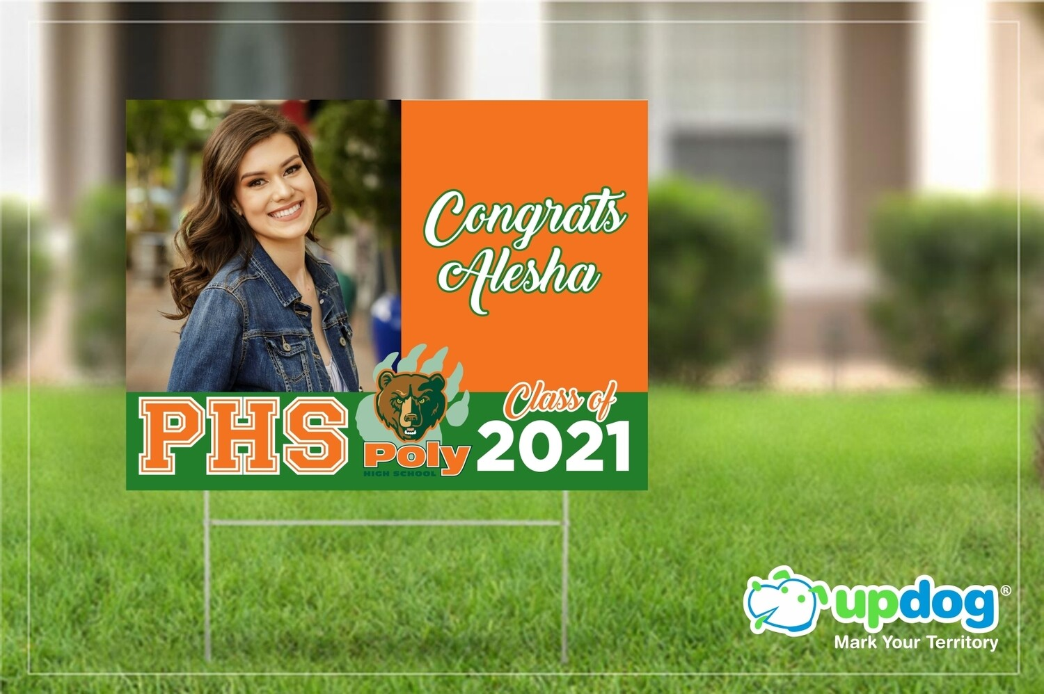 Poly High School Graduation Yard Sign