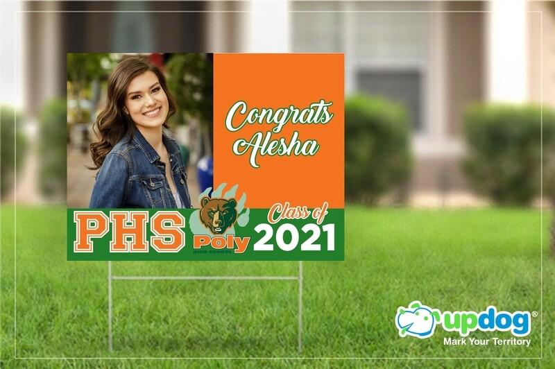 Poly High School Graduation Yard Sign