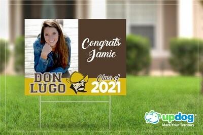Don Lugo High School Graduation Yard Sign