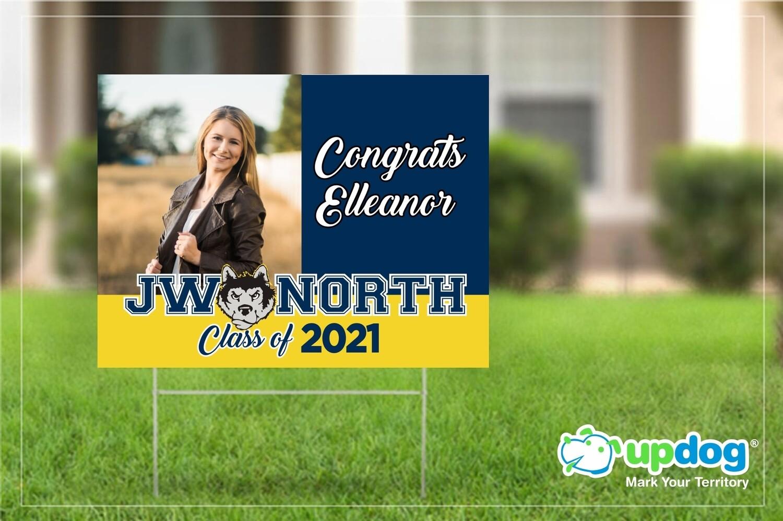 North High School Graduation Yard Sign
