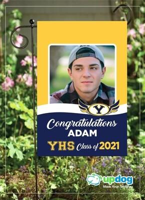 Yucaipa High School - Personalized Photo and Name, Class of 2021 Senior Graduation Garden Flag, Class of 2021 Garden Flag, Congratulations Garden Flag