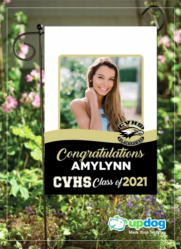 Citrus Valley High School - Personalized Photo and Name, Class of 2021 Senior Graduation Garden Flag, Class of 2021 Garden Flag, Congratulations Garden Flag