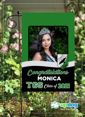 The Grove High School - Personalized Photo and Name, Class of 2021 Senior Graduation Garden Flag, Class of 2021 Garden Flag, Congratulations Garden Flag