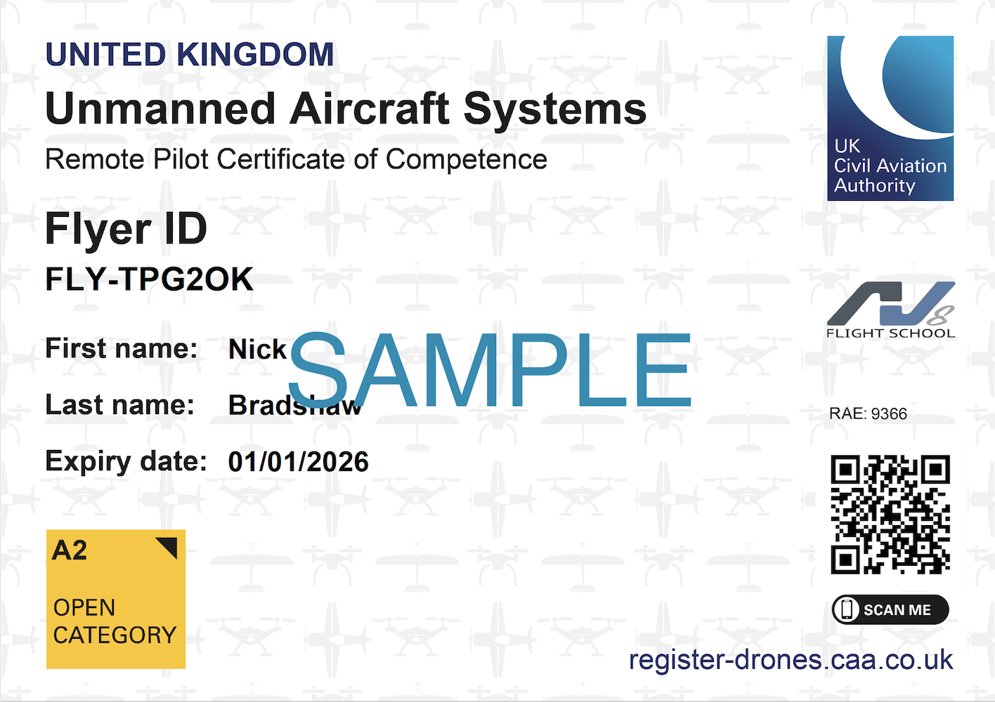 Formal CAA Certificate / ID Card