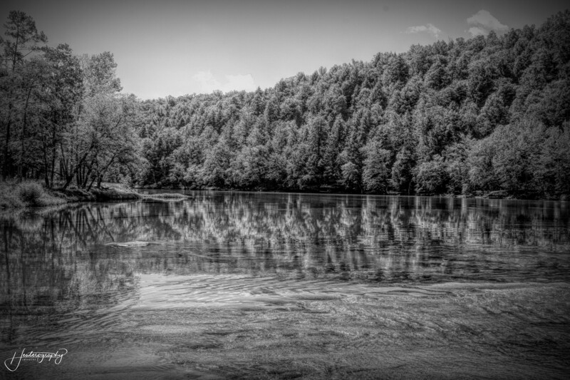 Cumberland River Reflections in Black and White 155
