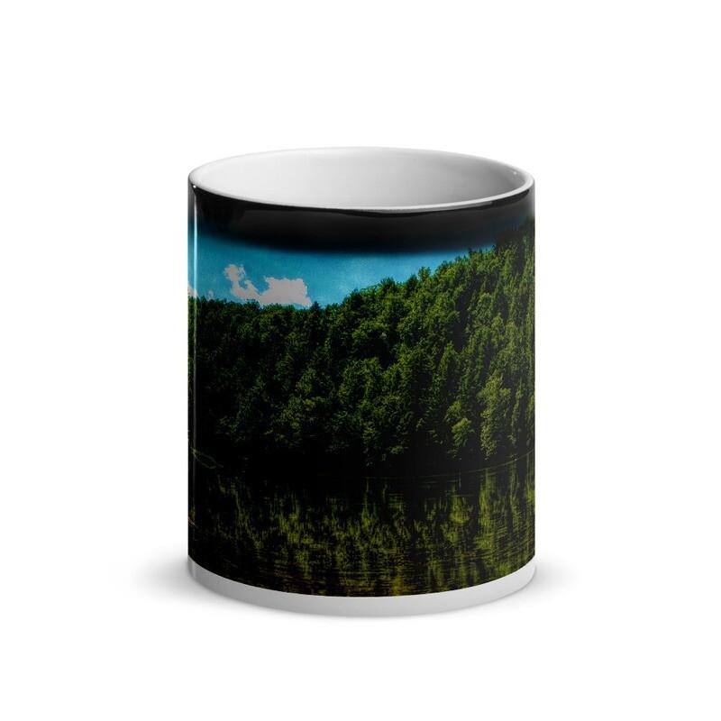 Cumberland River Reflection_116 Glossy Magic Mug
