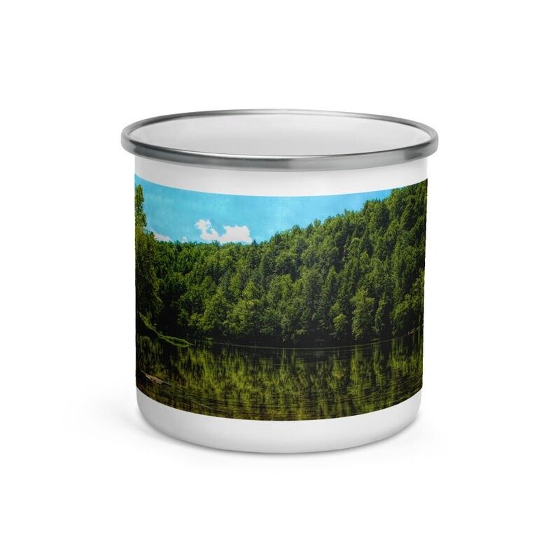 Cumberland River Reflection_116 Enamel Mug