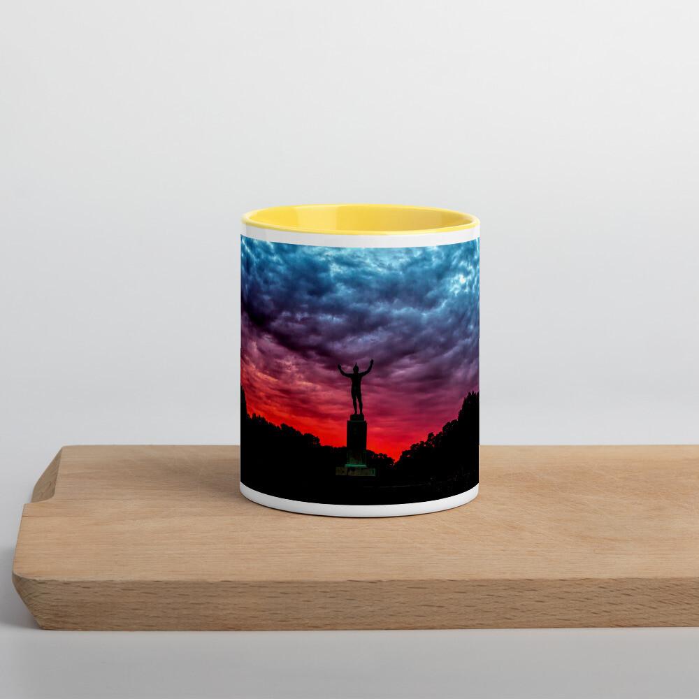 Sunsinger Red Sunrise_106 Mug with Color Inside