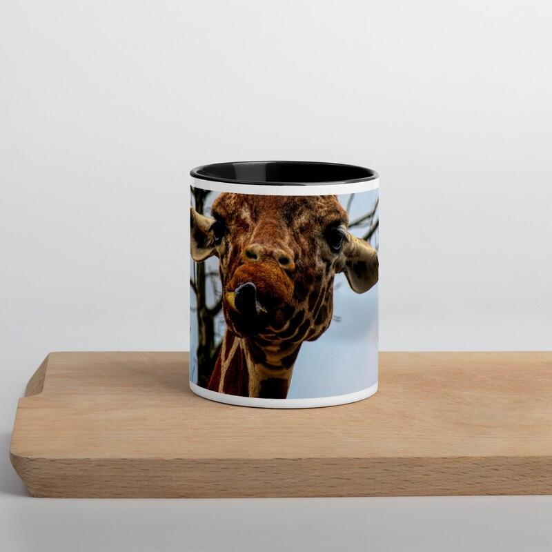 Giraffe with Attitude_ 138 Mug with Color Inside