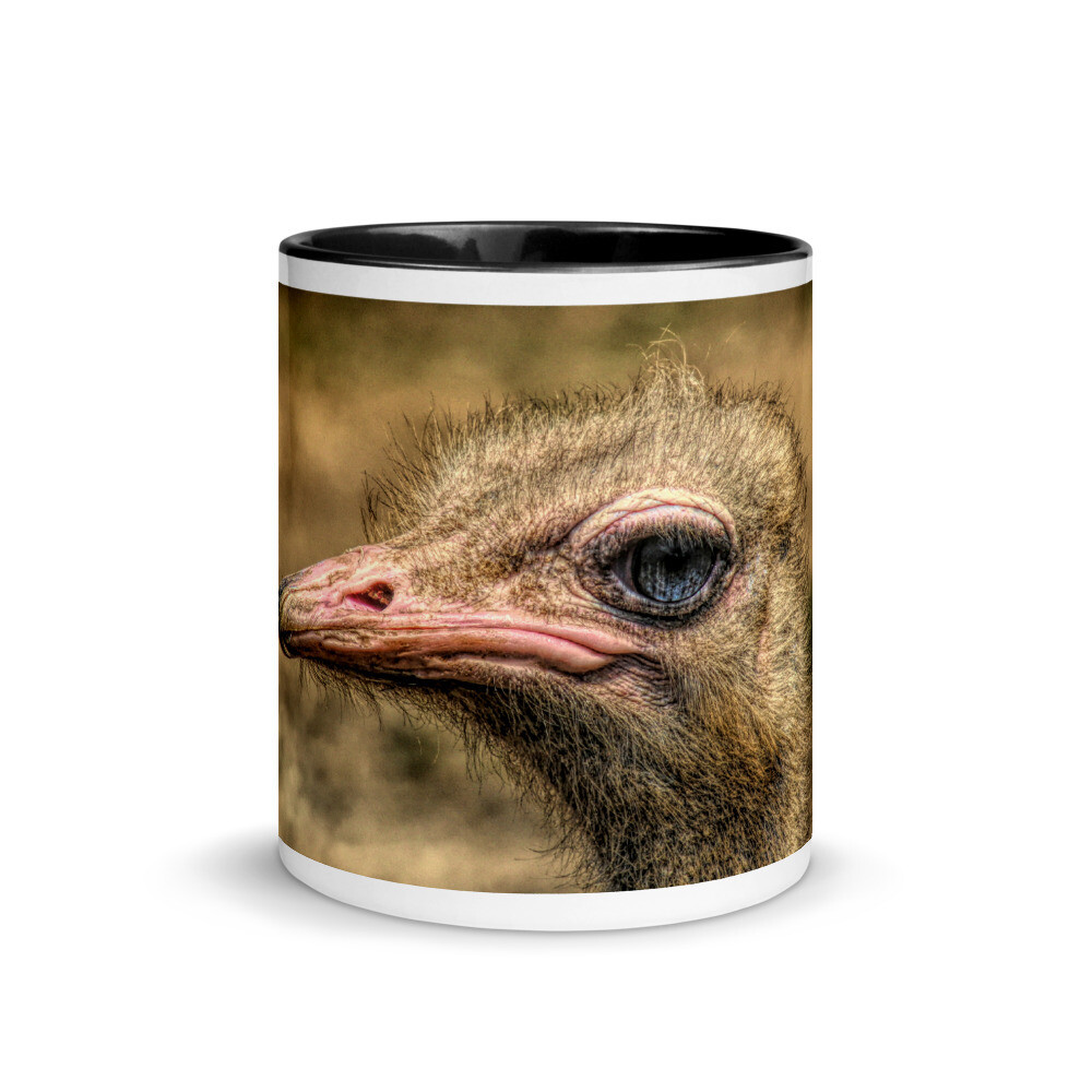 Ostrich Headshot_147 Mug with Color Inside