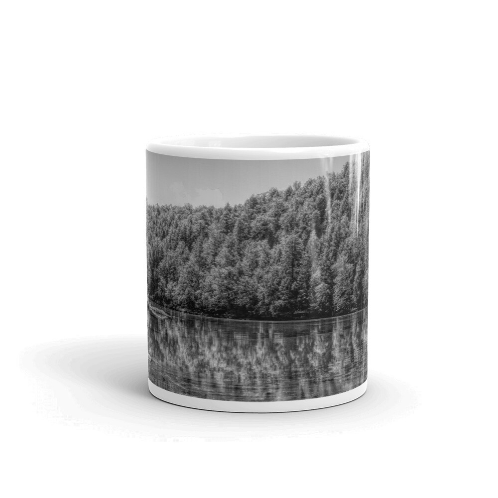 Cumberland River Reflections BW_155 Mug