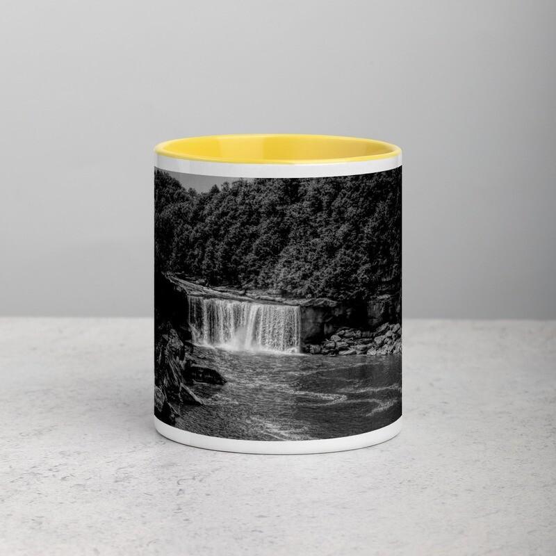 Cumberland Falls BW_130 Mug with Color Inside