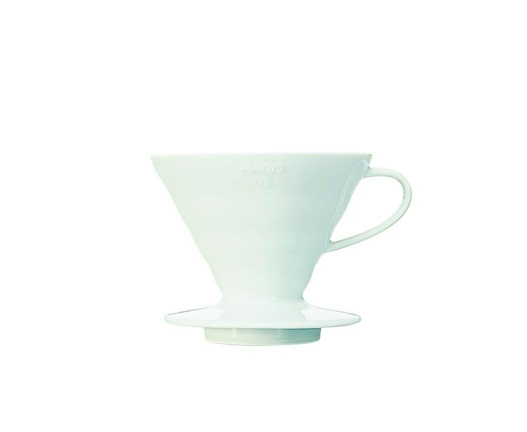 Hario V60 Coffee Dripper Ceramic 02 White