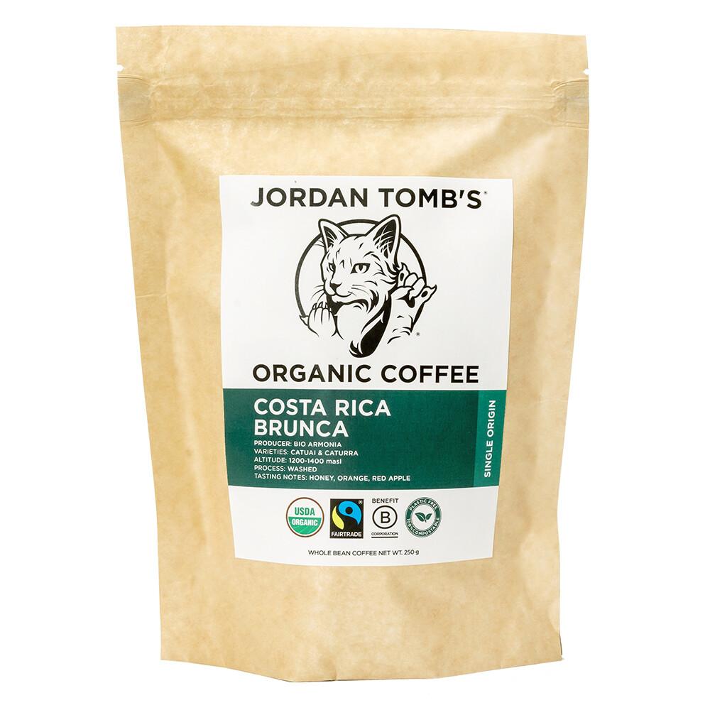 Jordan Tomb's Organic Coffee - Costa Rica Brunca - Fairtrade