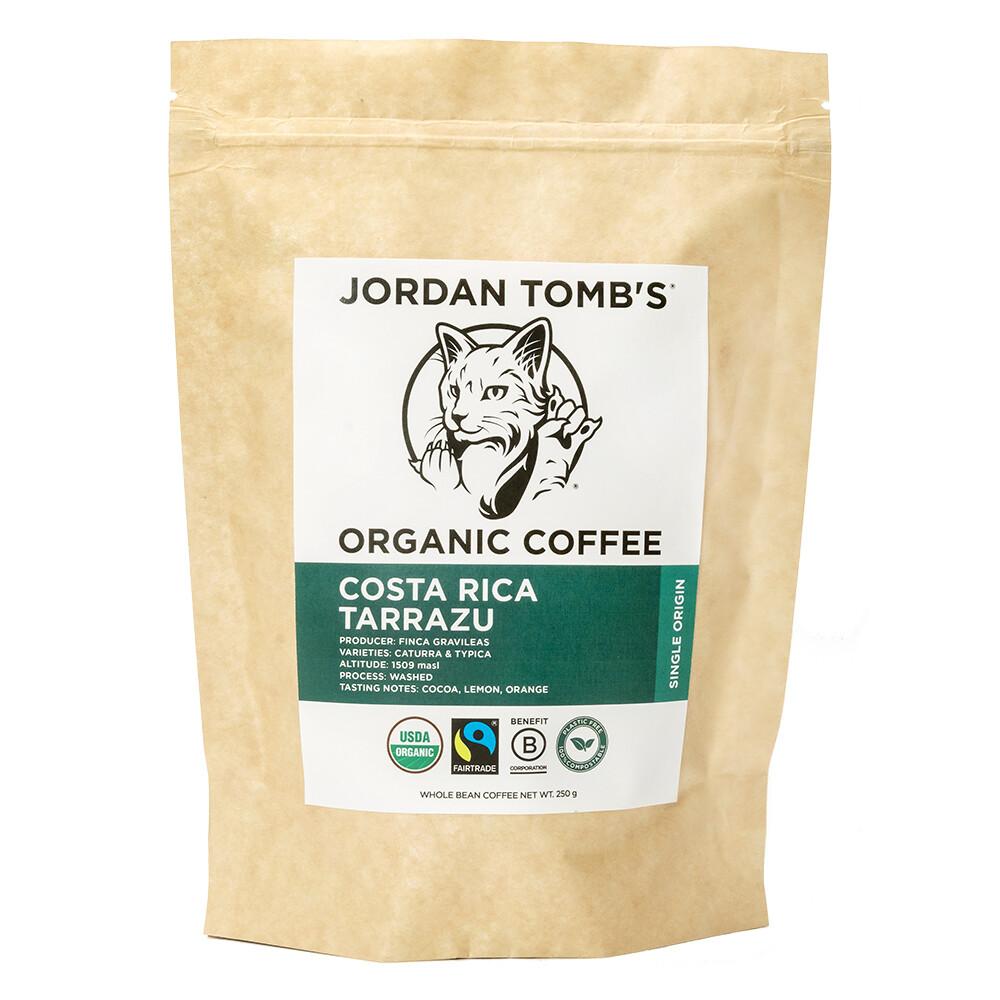 Jordan Tomb's Organic Coffee - Costa Rica Tarrazu - Fairtrade