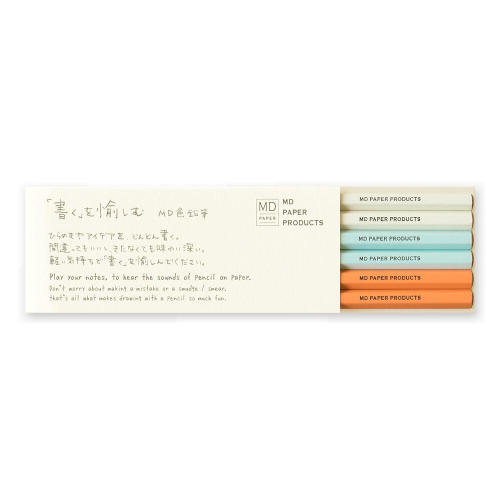 MIDORI MD Color Pencil 6pcs Set