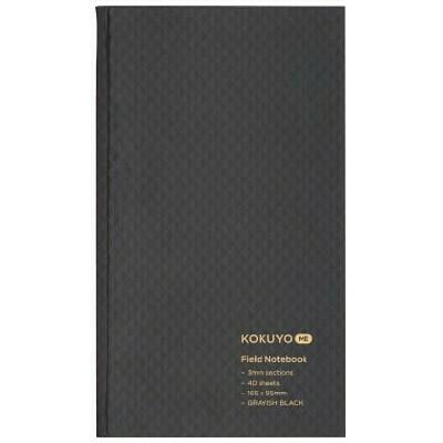 Kokuyo Me Field Notebook 3mm Grid Grayish Black