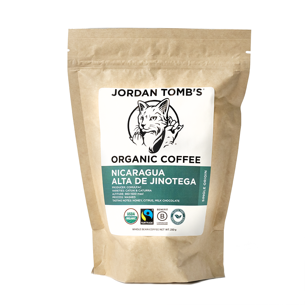 Jordan Tomb's Organic Coffee - Nicaragua Alta de Jinotega - Fairtrade