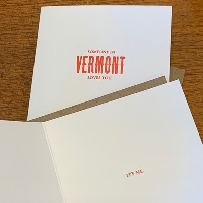 Sapling Press Someone in Vermont Loves You Card