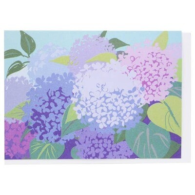 Smudge Ink Hydrangea Notecards, set of 10