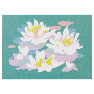 Smudge Ink Waterlilies Notecards, set of ten