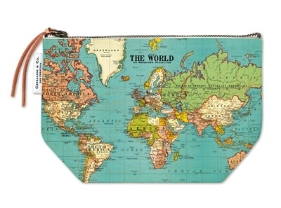 Cavallini Vintage World Map Pouch