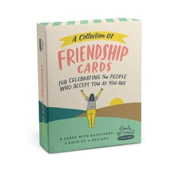 Emily McDowell Friendship/Encouragement Cards, Box of 8 assorted