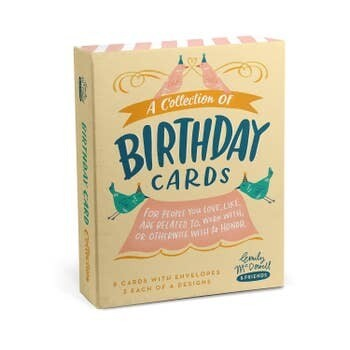 Emily McDowell Birthday Cards, Box of 8 assorted