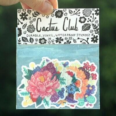 Cactus Club Flower Sticker Pack