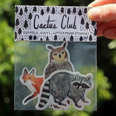 Cactus Club Forest Animals Sticker Pack