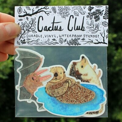 Cactus Club Critter Sticker Pack