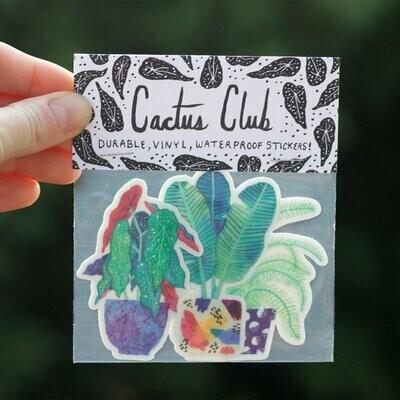 Cactus Club Houseplants Sticker pack