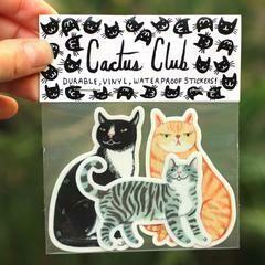Cactus Club Cat Sticker Pack
