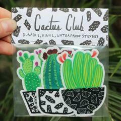 Cactus Club Cactus Sticker Pack, set of 3