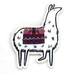 Cactus Club Llama Sticker