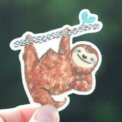 Cactus Club Sloth Sticker