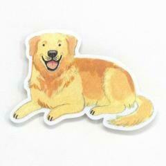 Cactus Club Golden Retriever Sticker