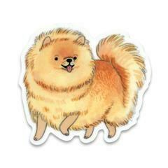 Cactus Club Pomeranian Sticker
