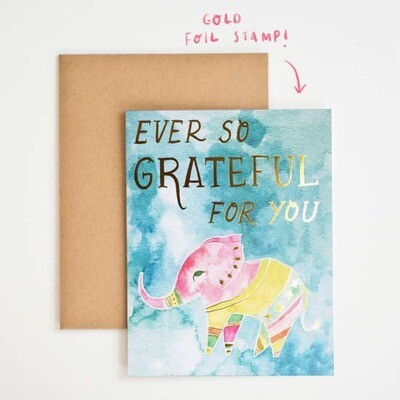 Meera Lee Patel Ever so Grateful to You Elephant Card