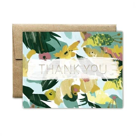 Ferme a Papier Foil Thank you Card