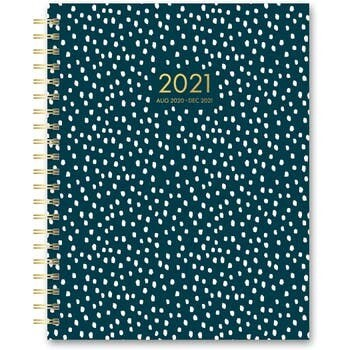 Paper Source 2020-2021 Planner, White Dots on Teal