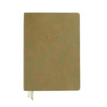 Paper Source 2020-2021 Medium Weekly Planner, Olive