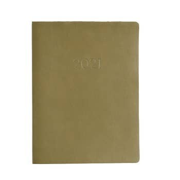 Paper Source 2020-2021 Large Monthly Planner, Olive