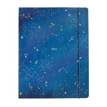 Paper Source 2021 Jumbo Booklet, Night Sky Monthly Planner