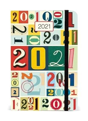 Cavallini Vintage Numbers Weekly Planner 2021