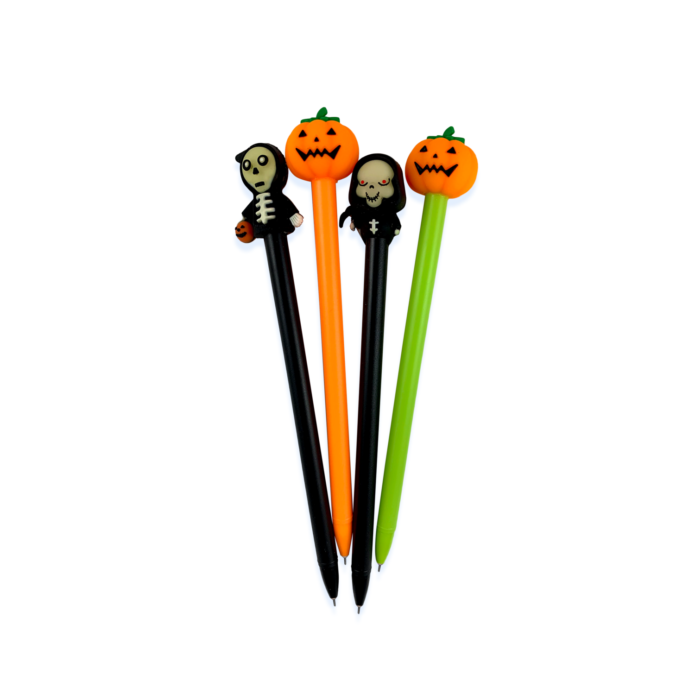 Spooky Halloween Pens, Set Of Four