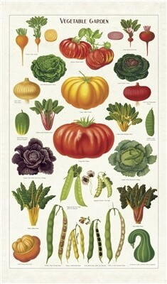 Cavallini Vegetable Garden Tea Towel