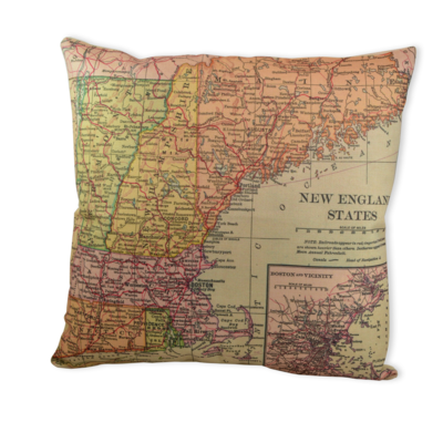 Vintage New England Pillow
