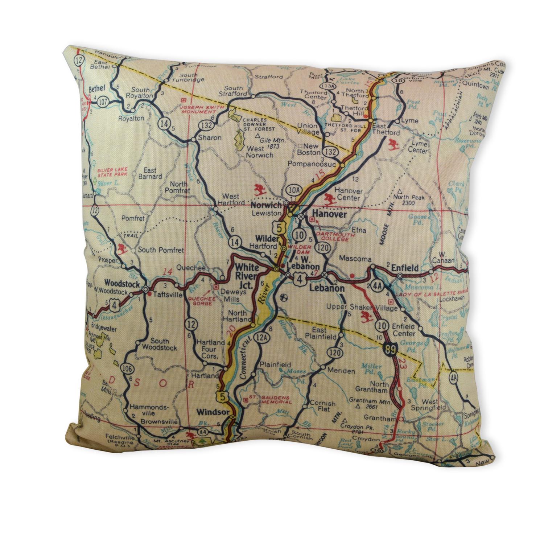 Upper Valley Map Pillow